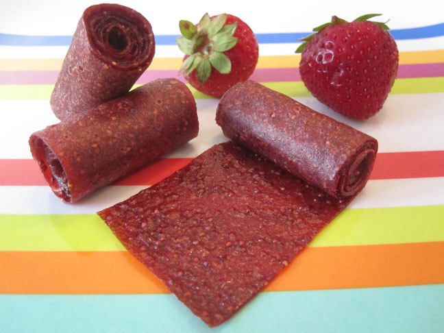 Weelicious strawberry fruit leather
