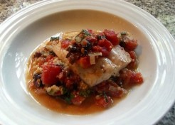 Dover Sole Puttanesca with Couscous