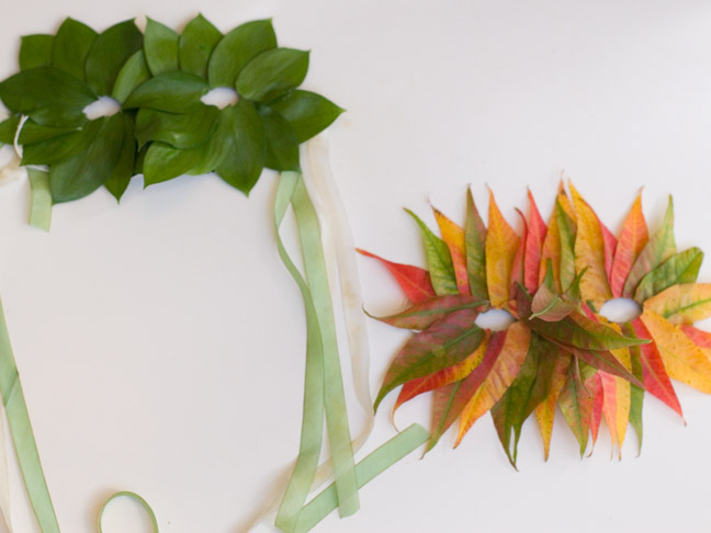 DIY: Fall Leaf Mask