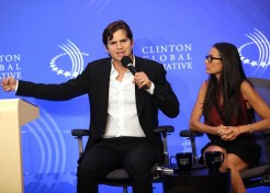 Demi Moore And Ashton Kutcher Celebrate Anniversary And Advocate For Trafficking Victims