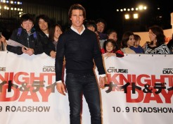 "Tom Cruise And Cameron Diaz In Japan For ""Knight And Day"" Premiere"
