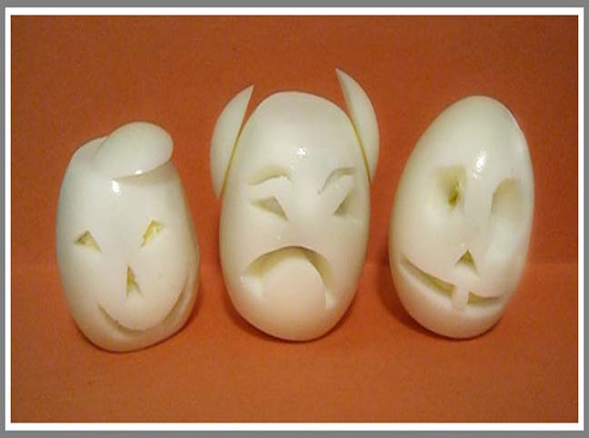 SCAREY HARD BOILED EGGS