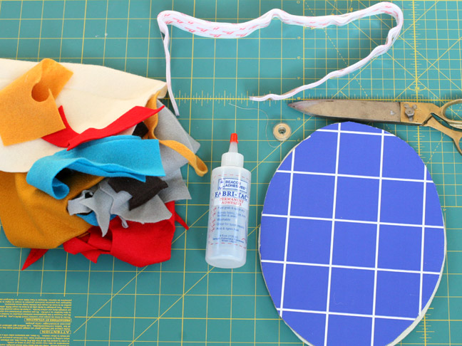 felt scissors fabric glue