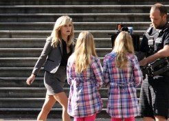 Reese Witherspoon On The Set Of Her New Movie