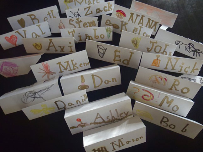 Thanksgiving Joys & Pitfalls placecards