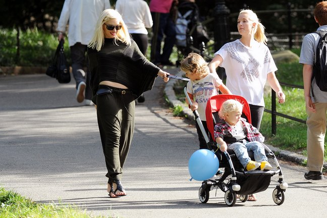 Gwen Stefani and her boys
