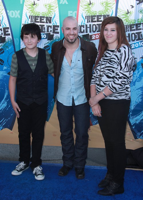 Chris Daughtry, jeans, boots, jackets