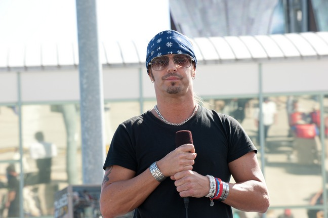 Bret Michaels, blue bandana black tshirt