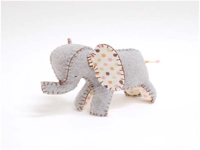 STUFFED ETSY ELEPHANT