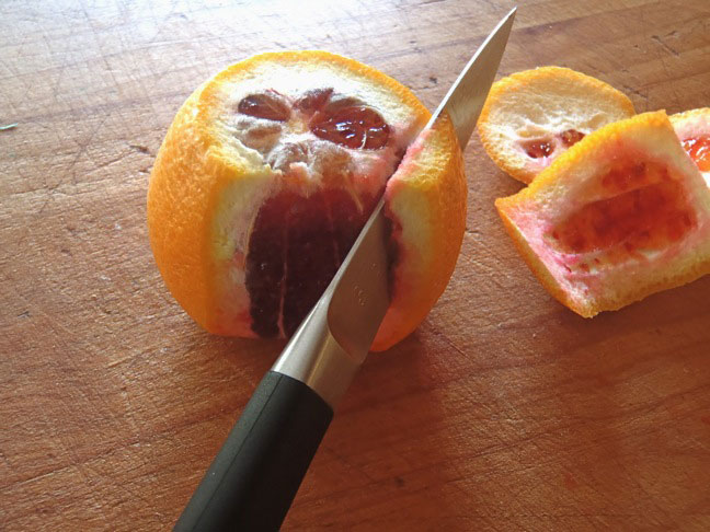 "cutting a orange in to ""supremes"""