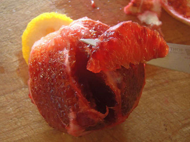 blood orange segmented