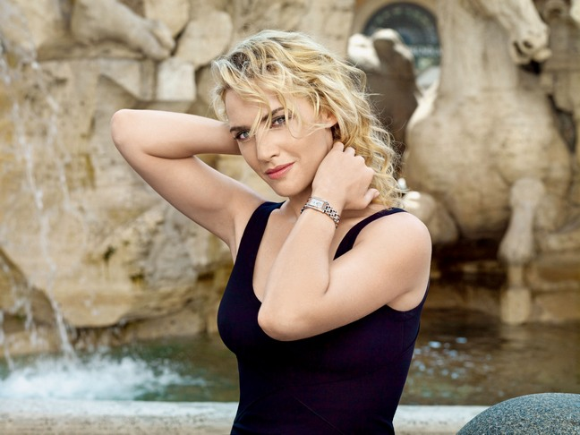 Kate Winslet, black tank top, watch