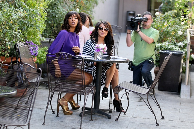 Lala Vasquez, animal print dress, michelle williams purple dress
