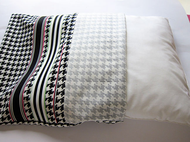 Inserting pillow in to the case