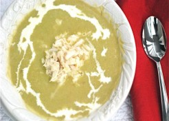 Asparagus Soup with Crab