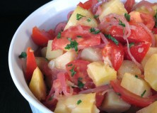 Potato Salad with Tomato & Quick-Pickled Red Onion