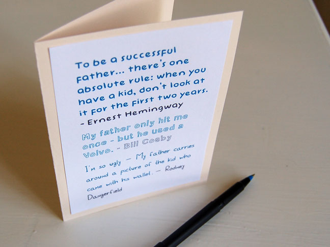 DIY: Printable Funny Fathers Day Card