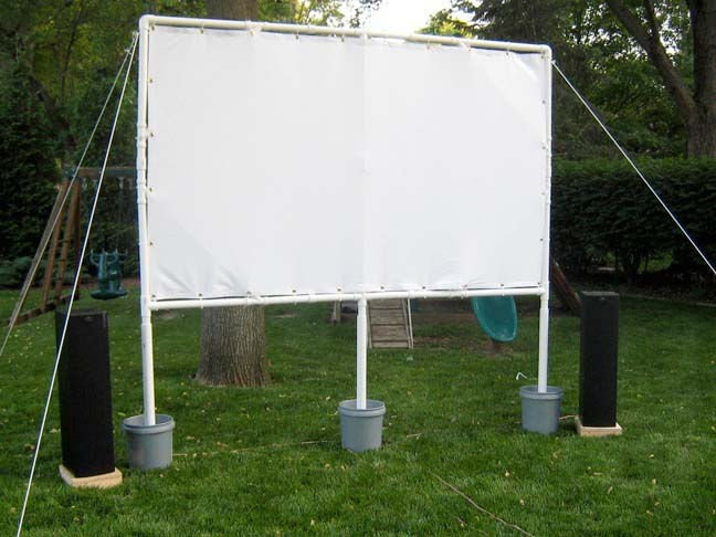 Summer Diy Build A Backyard Theater