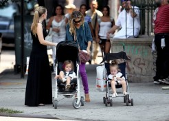 Photo Gallery: Celebrity Kids Out And About With Their Parents