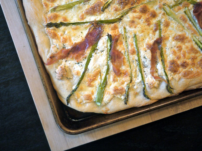 White Pizza with Asparagus