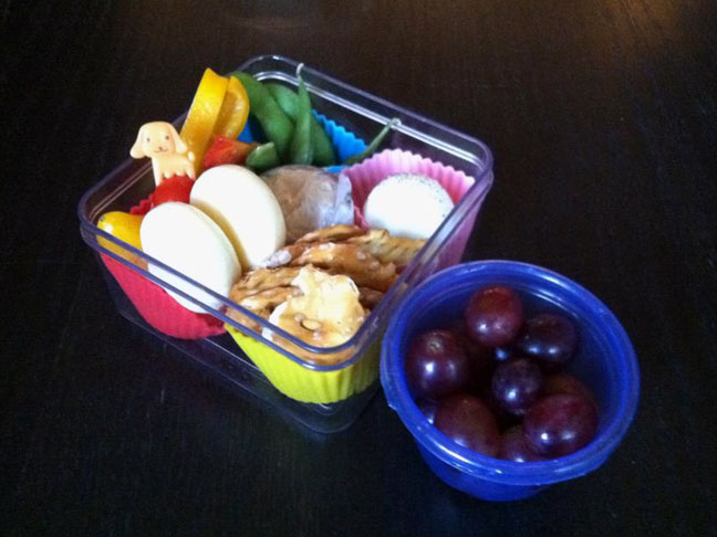 lunch box packed lunch school lunch hummus plate