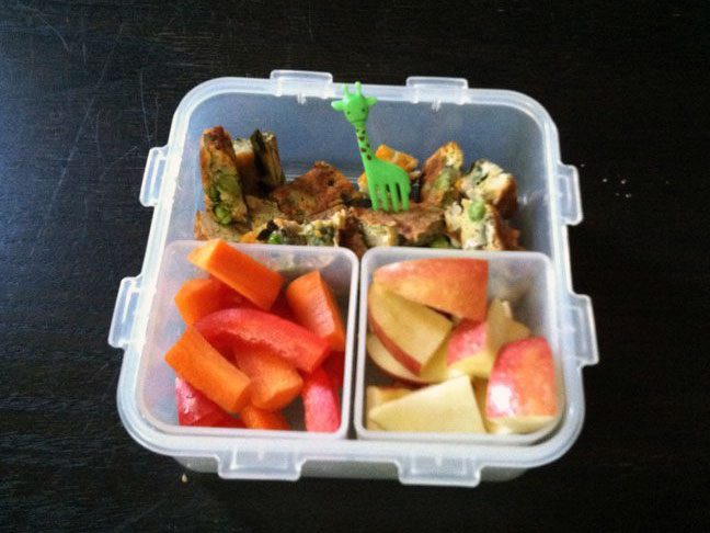 lunch box packed lunch school lunch frittata eggs