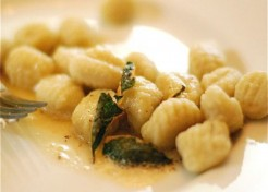 Potato Gnocchi with Sage Browned Butter Sauce