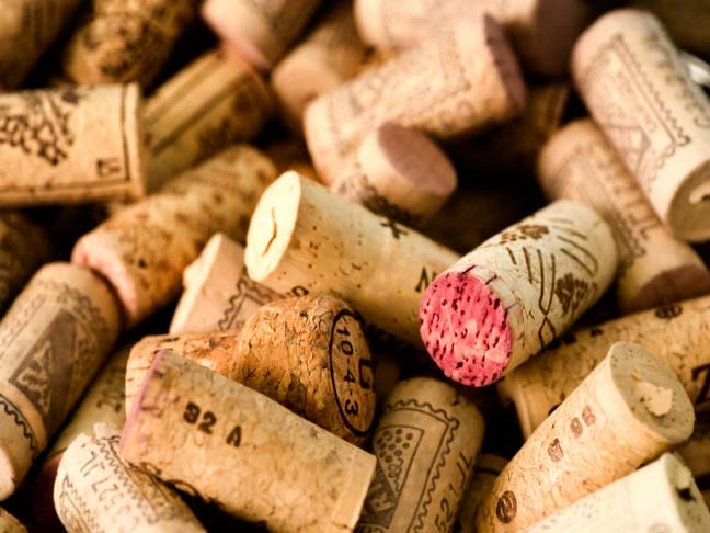 empty wine corks