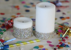 DIY: New Years Eve Glitter Candles