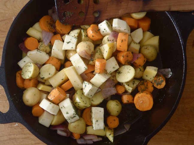 Pan Roasted Balsamic Root veggies3