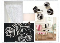 Black and White Bedroom For Tween Girls