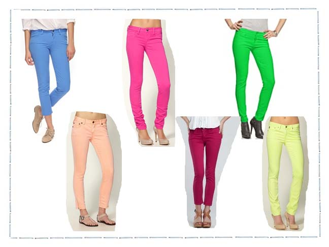 It's Going To Be Sweet…Candy Colored Denim For The Season