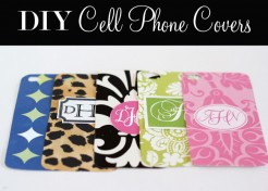 DIY: Monogrammed Cell Phone Covers