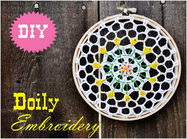 DIY: Doily Embroidery