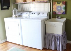 DIY: Laundry Tub Skirt