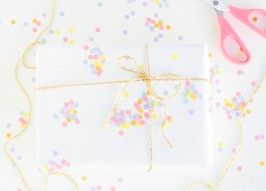 Holiday Wrapping Paper Makeover: Easy & Elegant 'Confetti' Paper You Can DIY
