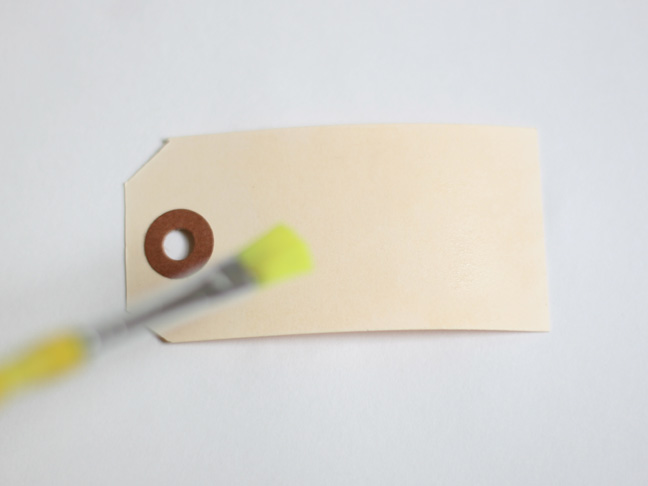 Watercolor Gift Tags - Step