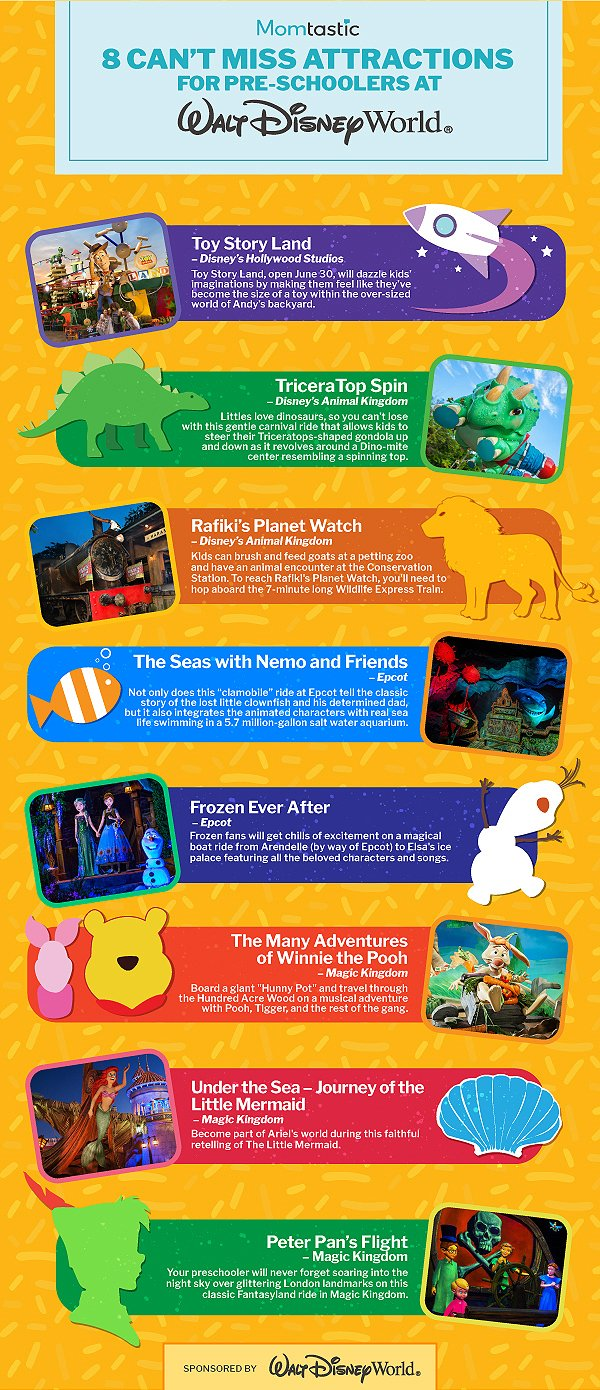 8 Can't-Miss Walt Disney World Attractions for Pre-Schoolers