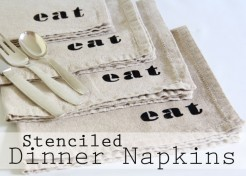 Stenciled Dinner Napkins