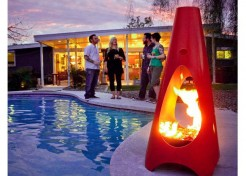 Sculptural Outdoor Fireplaces
