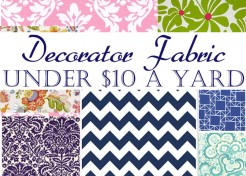 Under $10 a Yard: Online Decorating Fabric Sources