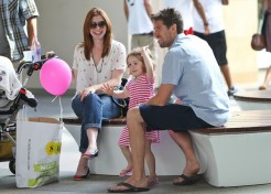 Photos: Alyson Hannigan And Family Hit The Shops; Baby Keeva Not A Cat Fan