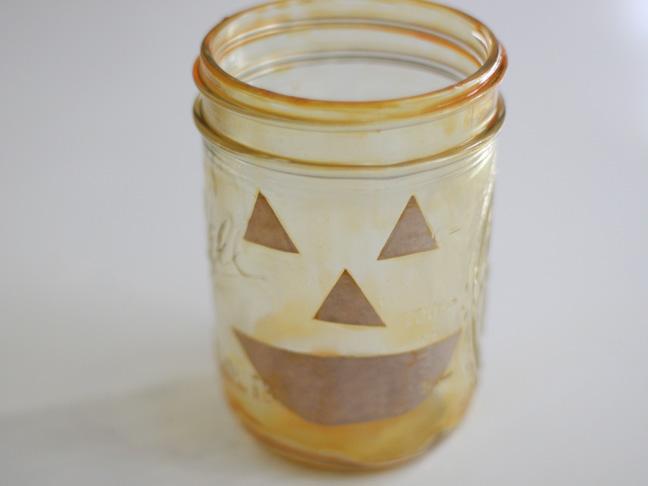Pumpkin Mason Jars DIY Craft - Step 12