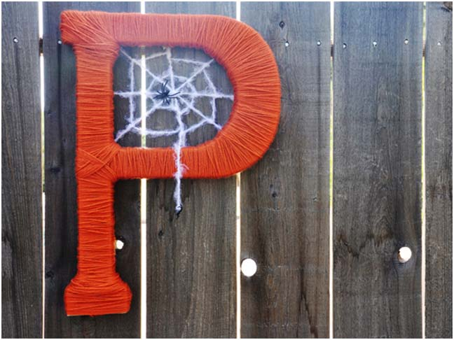 Spooky Monogram DIY Craft