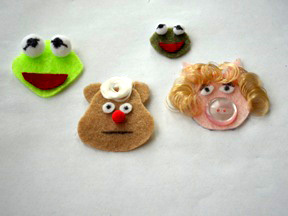 Muppet Faces Ornament Craft