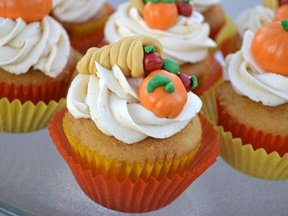 Cornicopia Pumpkin Cupcakes Recipe - Step 14