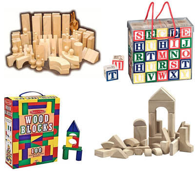 Wooden Blocks Christmas Gift