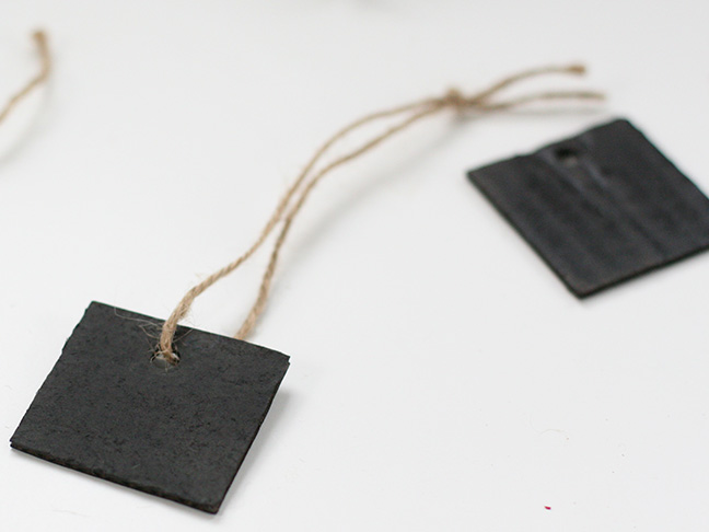DIY Chalkboard Gift Tags - Step 5