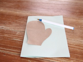 Mitten Cards DIY Craft - Step 4