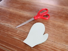 Mitten Cards DIY Craft - Step 5